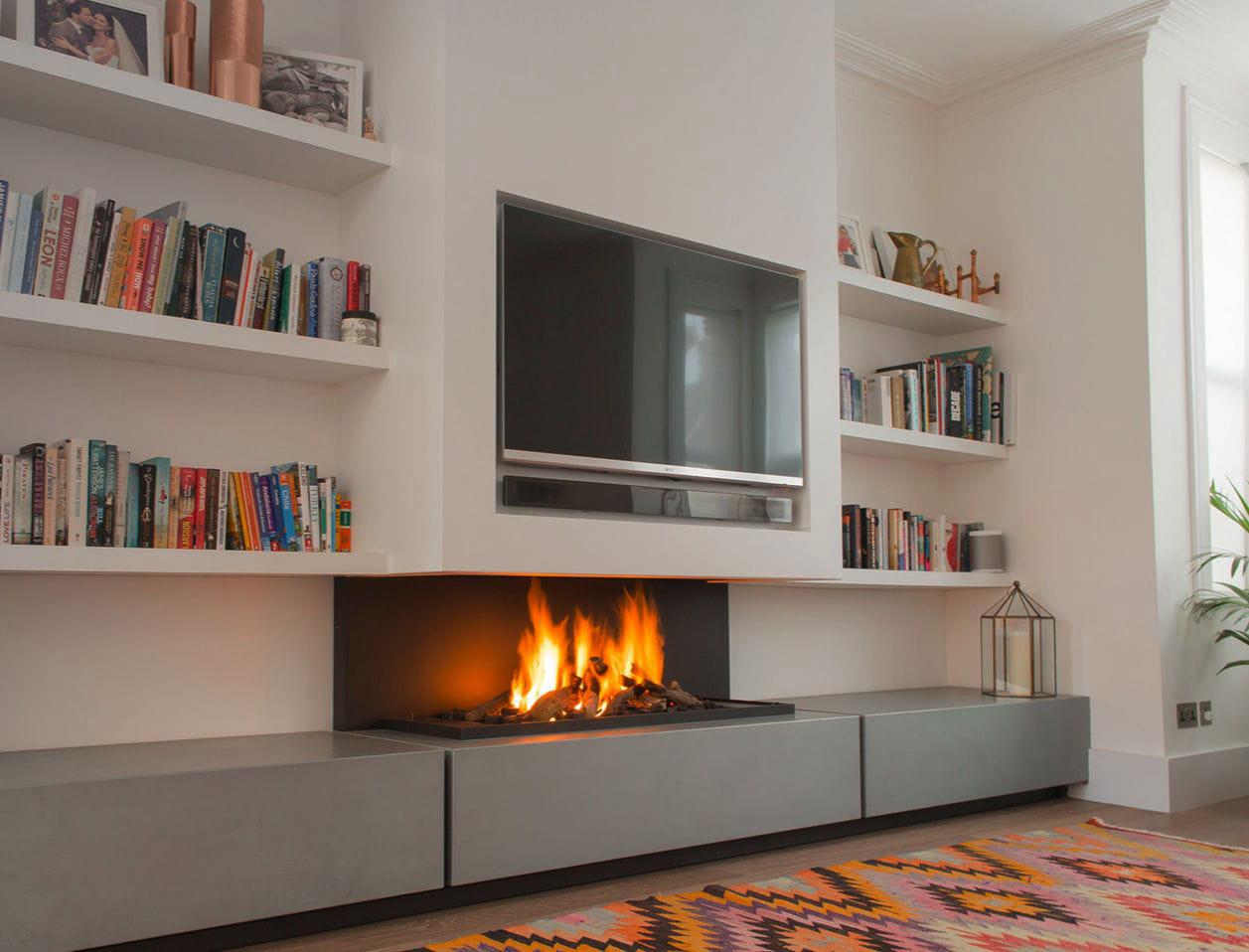 Colocar tv encima chimenea infografia blog - Chimenea electrica mueble ...