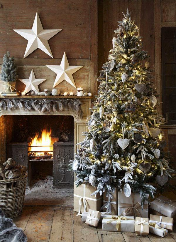 decoracion-para-chimeneas-en-navidad-guirnalda-arbol-de-navidad
