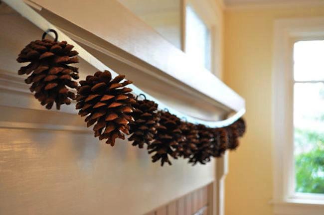 decoracion-para-chimeneas-en-navidad-guirnalda